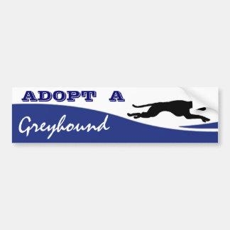 Autocollant De Voiture Adoptez un chien de lévrier