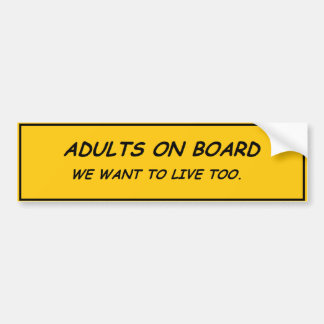 Autocollant De Voiture Adultes à bord