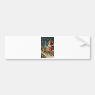 Autocollant De Voiture Affiche 1906 clous de Père Noël de cru original