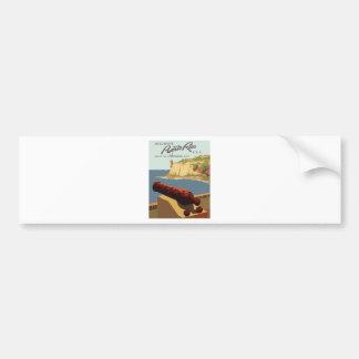 Autocollant De Voiture Affiche vintage Porto Rico de voyage
