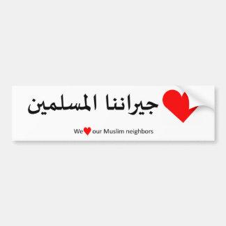 Autocollant De Voiture Aimez notre voisin musulman