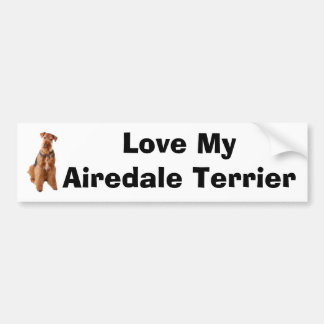 Autocollant De Voiture Airedale Terrier