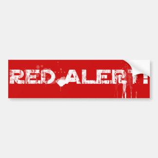 Autocollant De Voiture Alerte rouge !   Classique