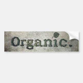 Autocollant De Voiture aller organique pour la santé