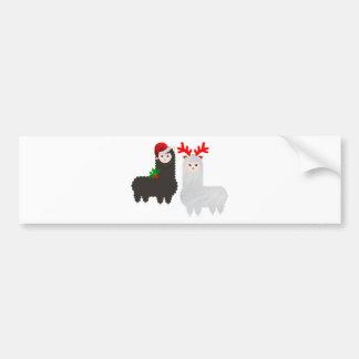 Autocollant De Voiture alpaga de renne de Noël