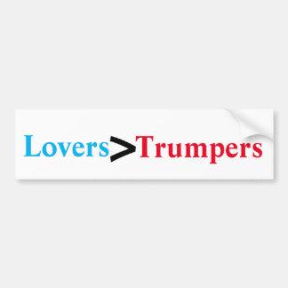 Autocollant De Voiture Amants > Trumpers