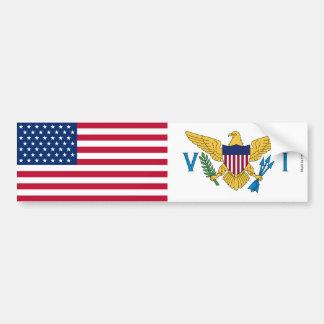 Autocollant De Voiture Américain et adhésif pour pare-chocs de drapeau