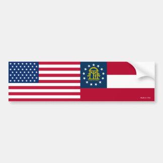 Autocollant De Voiture Américain et adhésif pour pare-chocs de drapeaux