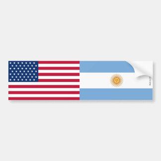 Autocollant De Voiture Américain et Argentin marque l'adhésif pour
