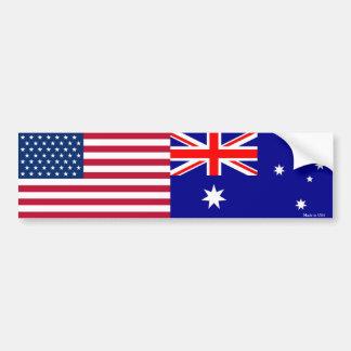 Autocollant De Voiture Américain et Australien marque l'adhésif pour
