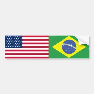 Autocollant De Voiture Américain et Brésilien marque l'adhésif pour