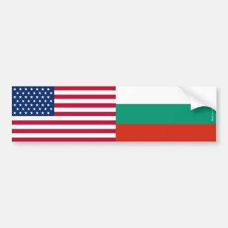 Autocollant De Voiture Américain et Bulgare marque l'adhésif pour