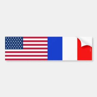Autocollant De Voiture Américain et Français marque l'adhésif pour