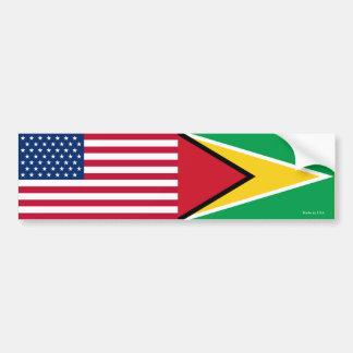 Autocollant De Voiture Américain et Guyanais marque l'adhésif pour