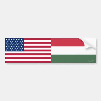 Autocollant De Voiture Américain et Hongrois marque l'adhésif pour