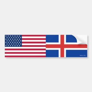 Autocollant De Voiture Américain et islandais marque l'adhésif pour
