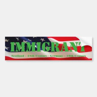 Autocollant De Voiture Américain immigré
