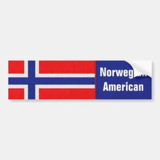 Autocollant De Voiture Américain norvégien