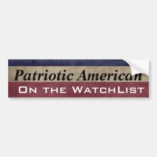 Autocollant De Voiture Américain patriote sur le WatchList