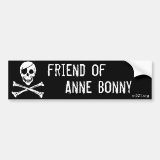 Autocollant De Voiture Ami d'adhésif pour pare-chocs d'Anne Bonny