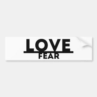 Autocollant De Voiture Amour au-dessus de la crainte