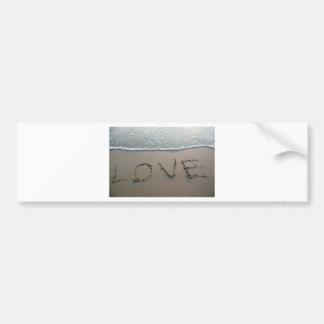 Autocollant De Voiture Amour dans le sable