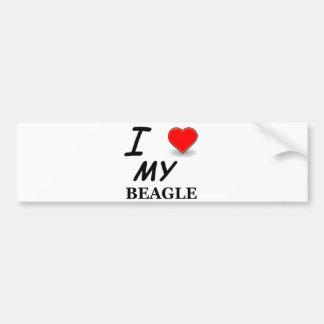 Autocollant De Voiture amour de beagle