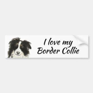 Autocollant De Voiture Amour de chien de border collie ma citation