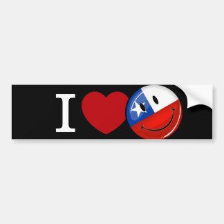 Autocollant De Voiture Amour de drapeau chilien de sourire du Chili