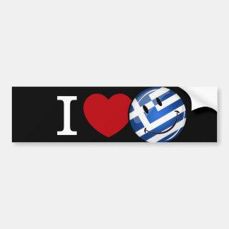 Autocollant De Voiture Amour de drapeau de sourire de la Grèce