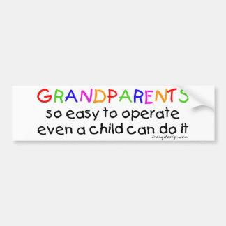 Autocollant De Voiture Amour de grands-parents