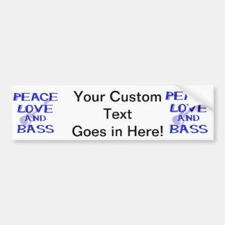 Autocollant De Voiture amour de paix et guitare bleue du bernice W de
