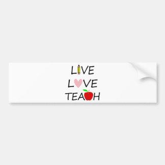 Autocollant De Voiture amour vivant teach2