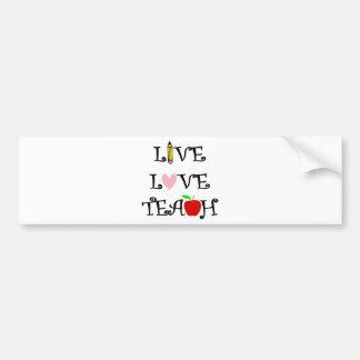 Autocollant De Voiture amour vivant teach3
