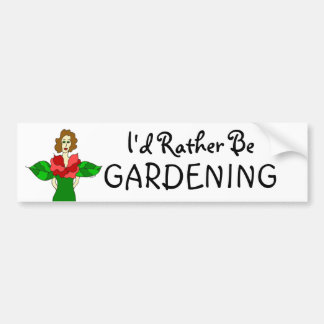 """Autocollant De Voiture Ange de jardin """"je ferais du jardinage plutôt """""""