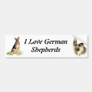 Autocollant De Voiture Animal de chien de berger allemand d'aquarelle