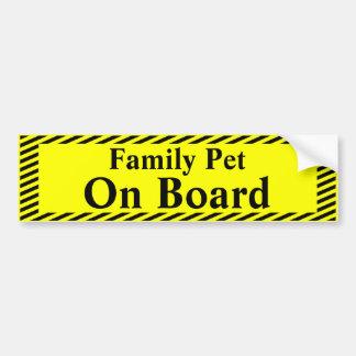 Autocollant De Voiture Animal familier de famille à bord