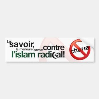 Autocollant De Voiture Anti adhésif pour pare-chocs de Sharia - Français