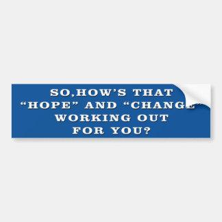 Autocollant De Voiture Anti adhésif pour pare-chocs d'Obama d'espoir et