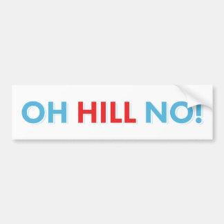 Autocollant De Voiture Anti colline de Hillary oh non !