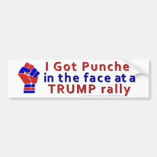 Autocollant De Voiture Anti drôle de Donald Trump perforé dans le visage