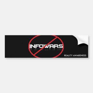 Autocollant De Voiture Anti-Infowars adhésif pour pare-chocs