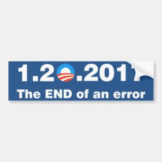 Autocollant De Voiture Anti Obama la fin d'une erreur