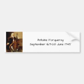 Autocollant De Voiture Antoine Forqueray