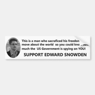 Autocollant De Voiture Appui Edouard Snowden