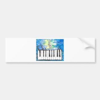 Autocollant De Voiture Aquarelle de piano