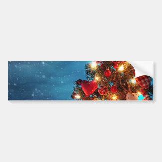 Autocollant De Voiture Arbre de Noël - décorations de Noël - flocons de