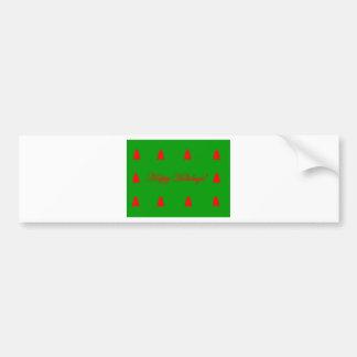 Autocollant De Voiture Arbre de Noël rouge de vacances heureuses vertes