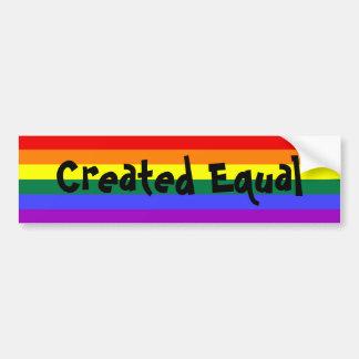 Autocollant De Voiture Arc-en-ciel égal créé de gay pride