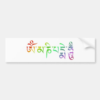 Autocollant De Voiture Arc-en-ciel tibétain d'incantation de